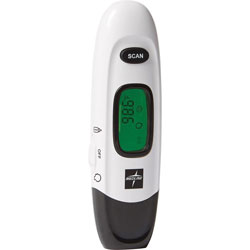 Medline Forehead Thermometer, No Touch, 3-3/10 inWx7-1/4 inLx1-2/5 inH