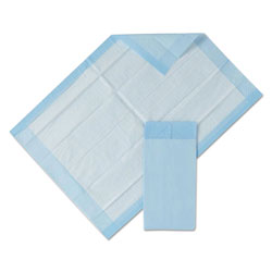 Medline Protection Plus Disposable Underpads, 23 in x 36 in, Blue, 25/Bag, 6 Bag/Carton