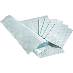 """Medline Pro Towels, Two-Ply, 13""""x18"""", 500/BX, Blue"""