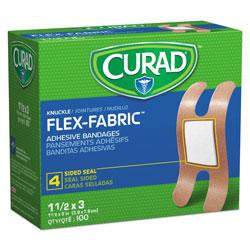 Medline Flex Fabric Bandages, Knuckle, 100/Box