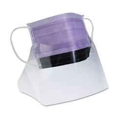 Medline Prohibit Face Mask w/Eyeshield, Polypropylene/Cellulose, Purple, 25/Box
