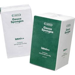 """Medline Gauze Sponges, Nonsterile, 4""""x4"""",12 Ply, 200/BX, White"""