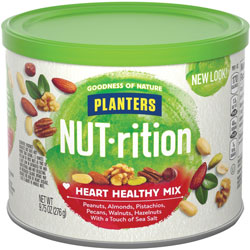 Marjack Planters Heart Healthy Mix, Assorted Nuts, 9.75oz., Green