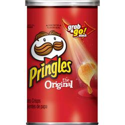 Pringles® Potato Crisps, Grab/Go Can, 2.36oz., Original