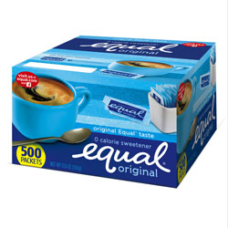 Equal® Zero Calorie Sweetener, 0.035 oz Packets, 500/Box