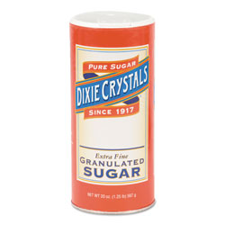 Diamond Granulated Sugar, 20 oz Canister, 24/Carton