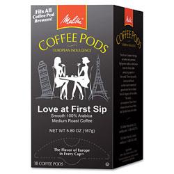 Melitta Coffee Pods, Love at First Sip (Medium Roast), 18 Pods/Box