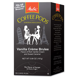Melitta Coffee Pods, Vanilla Creme Brulee, 18 Pods/Box
