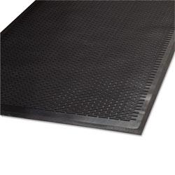 Millennium Mat Company Clean Step Outdoor Rubber Scraper Mat, Polypropylene, 36 x 60, Black