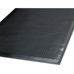 Millennium Mat Company Clean Step Outdoor Rubber Scraper Mat, Polypropylene, 48 x 72, Black