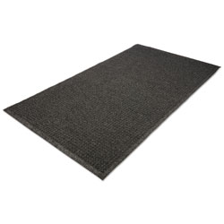 Millennium Mat Company EcoGuard Indoor/Outdoor Wiper Mat, Rubber, 24 x 36, Charcoal
