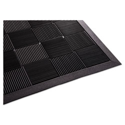 Guardian Parquet Wiper Scraper Mat, 24 x 36, Black