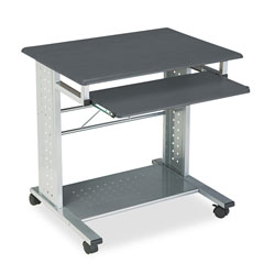 Safco Empire Mobile PC Cart, 29.75w x 23.5d x 29.75h, Anthracite
