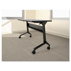 Safco Flip-n-Go Table Base, 46 7/8w x 21 1/4d x 27 7/8h, Black