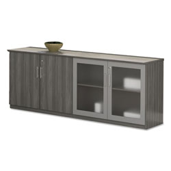 Safco Medina Series Low Wall Cabinet with Doors, 72w x 20d x 29 1/2h, Gray Steel, Box2