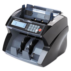 MMF Industries 4850 Bill Counter with Counterfeit Detection, 1900 Bills/Min, Black