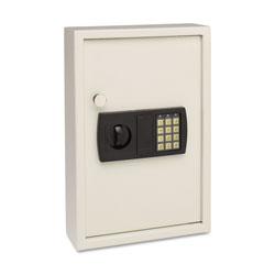 MMF Industries Electronic Key Safe, 48-Key, Steel, Sand, 11 3/4 x 4 x 17 3/8