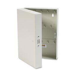 MMF Industries Hook-Style Key Cabinet, 28-Key, Steel, Putty, 7-3/4 inw x 3-1/4 ind x 11-1/2 inh