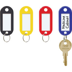 MMF Industries Key Tags, Replacement, 1/8 in x 7/8 in x 1-15/16 in, Assorted