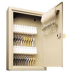 MMF Industries Uni-Tag Key Cabinet, 30-Key, Steel, Sand, 8 x 2 5/8 x 12 1/8