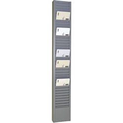MMF Industries 40-Pocket Steel Swipe Card/Badge Rack, 2-15/16 in x 18-11/16 in