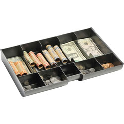 "MMF Industries Replacement Plastic Money Tray, 14 3/4"" x 9 15/16"" x 2 1/8"" BK"