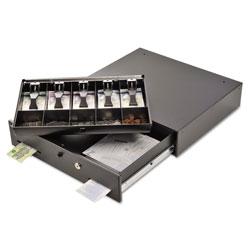 MMF Industries Alarm Alert Steel Cash Drawer w/Key & Push-Button Release Lock, Black