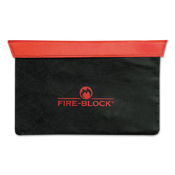 MMF Industries Fire-Block Document Portfolio, 15 1/2 x 10 x 1/2, Red/Black
