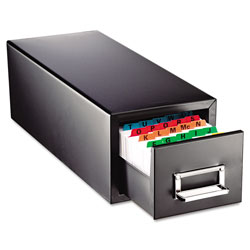 MMF Industries Drawer Card Cabinet Holds 1,500 3 x 5 cards, 7 3/4 x 18 1/8 x 7