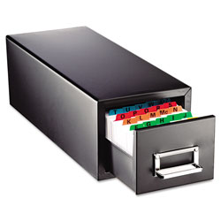 MMF Industries Drawer Card Cabinet Holds 1,500 5 x 8 cards, 9 7/16 x 16 x 7 1/2