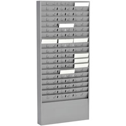 MMF Industries Steel Time Card Rack with Adjustable Dividers, 5 in Pockets