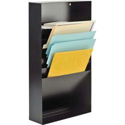 "MMF Industries Steel, 5 Compartment Desk Drawer Stationery Holder, 21"" Deep, Black"