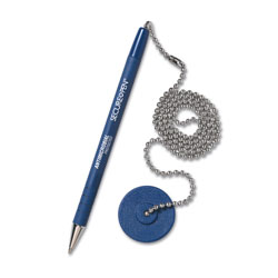 MMF Industries Counter Pen with Base and a Blue Barrel and Ink, Medium Point