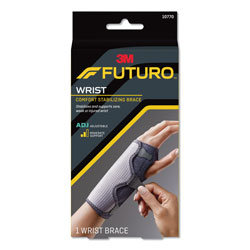 Futuro Adjustable Reversible Splint Wrist Brace, Fits Wrists 5 1/2 in- 8 1/2 in, Black