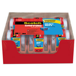 Scotch™ 3850 Heavy-Duty Packaging Tape with Dispenser, 1.5 in Core, 1.88 in x 66.66 ft, Clear, 6/Pack