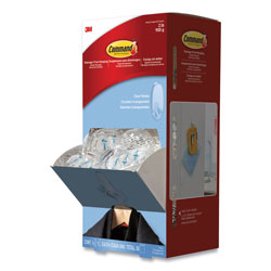 Command® Clear Hooks and Strips, Plastic, Medium, 50 Hooks with 50 Adhesive Strips per Carton