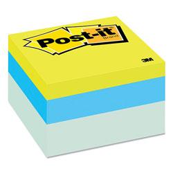 Post-it® Original Cubes, 3 x 3, Blue Wave, 470-Sheet