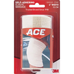 3M Athletic Support Wrap, 4 in W, Self-Adhering, Tan