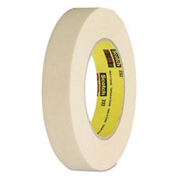 Scotch™ High-Performance Masking Tape 232, 3 in Core, 12 mm x 55 m, Tan