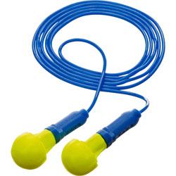 3M E A R Push-Ins Earplugs, Corded, 28nrr, Yellow/blue, 200 Pairs