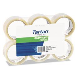 Tartan™ 3710 Packaging Tape, 3 in Core, 1.88 in x 54.6 yds, Clear, 6/Pack