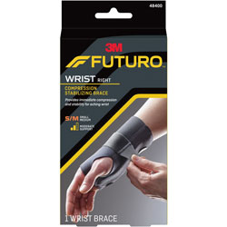 3M Energizing Wrist Support, S/M, Fits Right Wrists 5 1/2 in- 6 3/4 in, Black