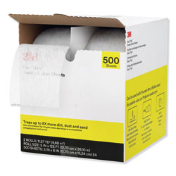 3M Easy Trap Duster, 5 in x 125 ft, White, 2 250 Sheet Rolls/Carton