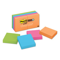 Post-it® Pads in Rio de Janeiro Colors, 2 x 2, 90-Sheet Pads, 8/Pack