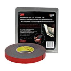 3M Automotive Acrylic Plus Attachment Tape, Black, 7/8 in x 20 yds.