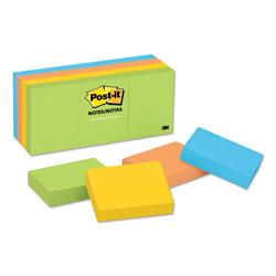 Post-it® Original Pads in Jaipur Colors, 1 1/2 x 2, 100-Sheet, 12/Pack