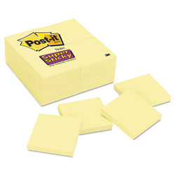 Post-it® Canary Yellow Note Pads, 3 x 3, 90-Sheet, 24/Pack