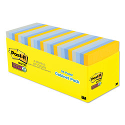 Post-it® Pads in New York Colors Notes, 3 x 3, 70-Sheet, 24/Pack