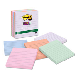 Post-it® Recycled Notes in Bali Colors, Lined, 4 x 4, 90-Sheet, 6/Pack
