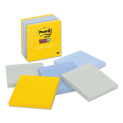 Post-it® Pads in New York Colors Notes, 4 x 4, 90-Sheet, 6/Pack